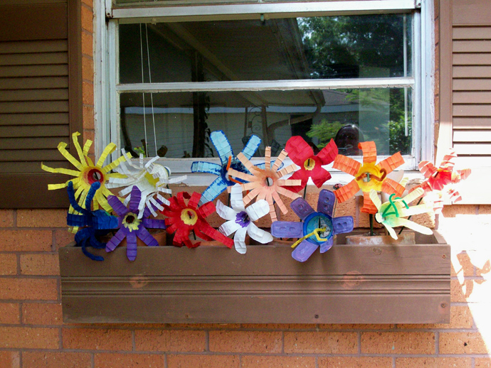 plastic bottle recycle decorating (3)