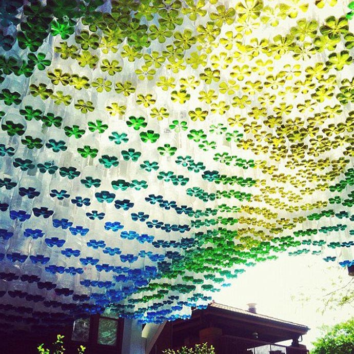 plastic bottle recycle decorating (7)