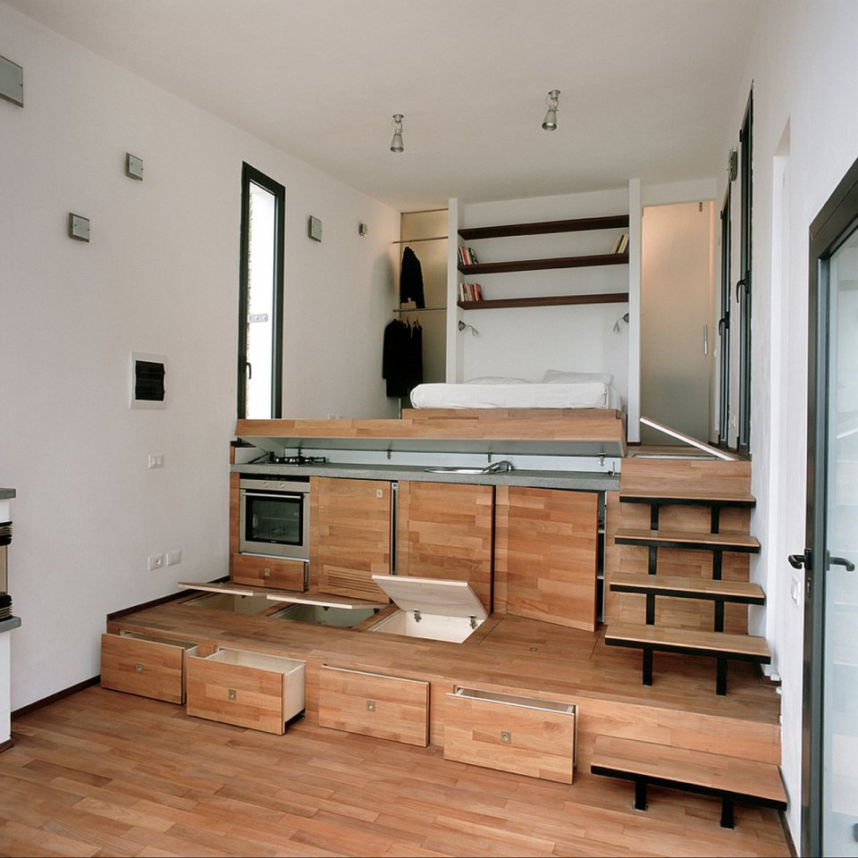 small box classic contemporary loft minimal house in italy (1)