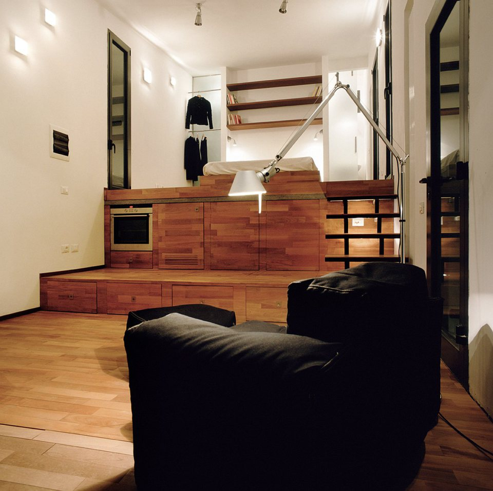 small box classic contemporary loft minimal house in italy (11)