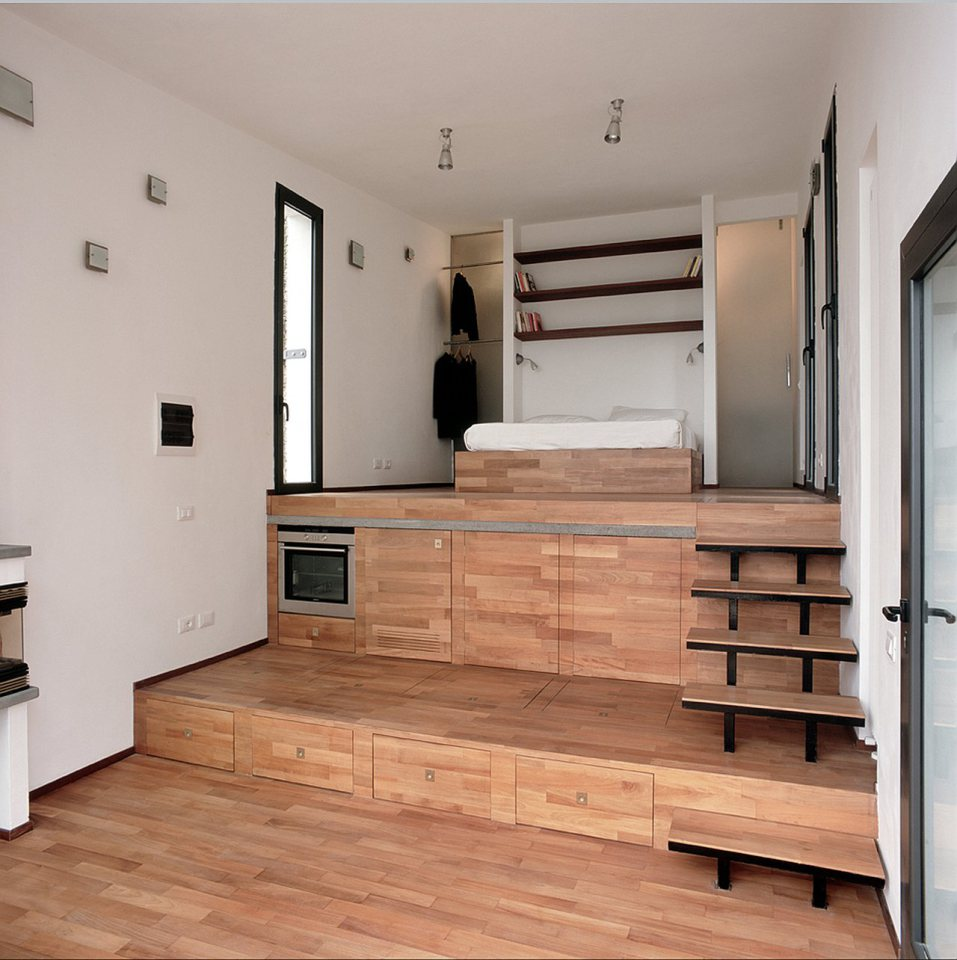 small box classic contemporary loft minimal house in italy (14)