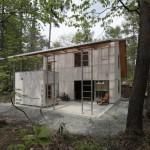 แบบบ้านสมัยใหม่เพื่อการพักผ่อนสบายๆ ตกแต่งภายในด้วยไม้อย่างเรียบง่ายสวยงาม