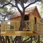 แบบบ้านต้นไม้ขนาดจิ๋ว ออกแบบรูปทรงกระท่อมดูคลาสสิค บรรยากาศน่ารักน่าอยู่