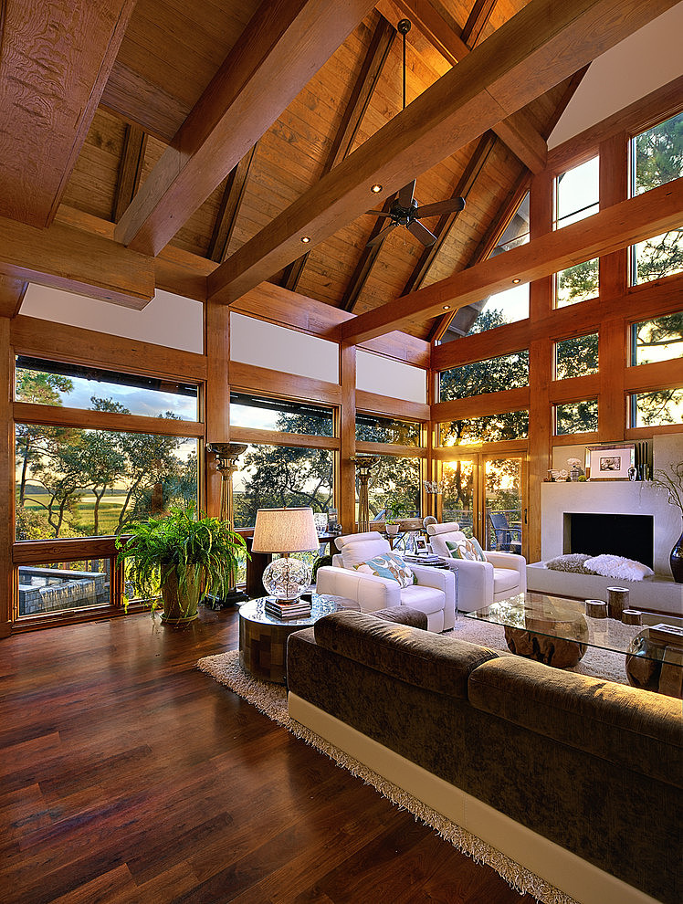 tree house wood villa natural with pool (3)