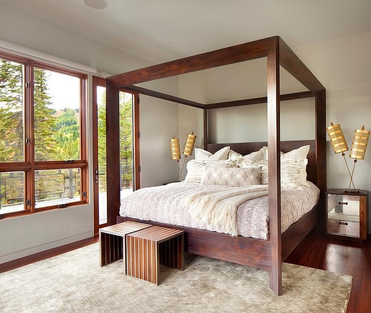 wooden interior design in montana resort (1)