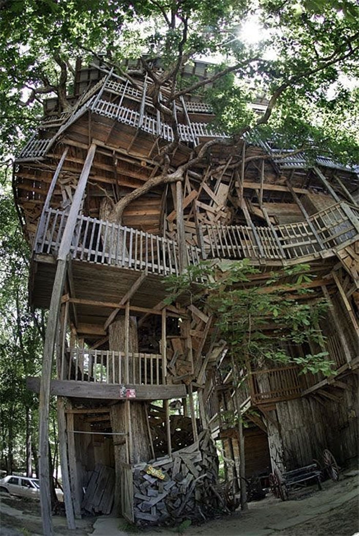 world largest treehouse in tennessee usa (3)
