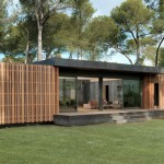 แบบบ้านชั้นเดียวรูปทรงกล่อง สร้างด้วยไม้บนแนวคิดเรียบง่าย ทั้งภายนอกและภายใน