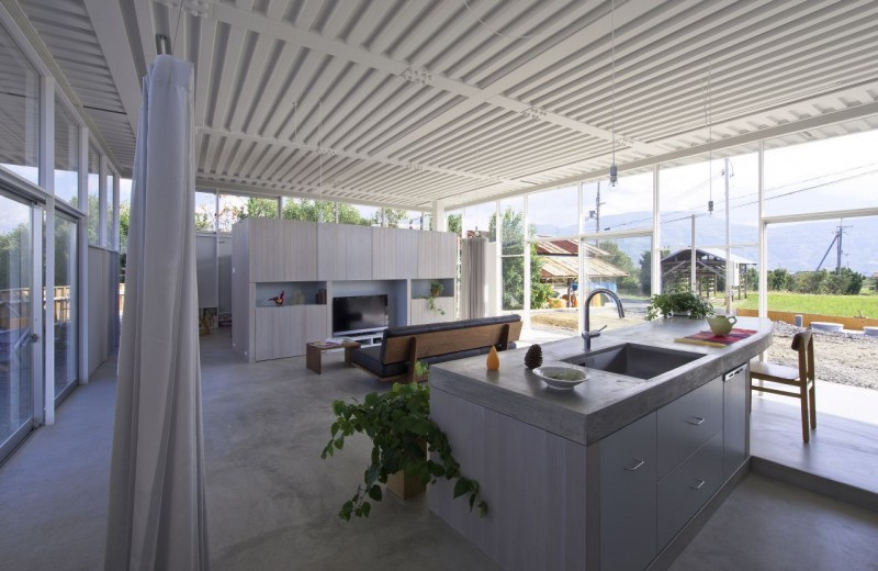 countryside modern house with garden in japan (9)