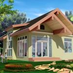 แบบบ้านชั้นเดียว 2 ห้องนอน 1 ห้องน้ำ 'บ้านจุฑามาศ' แจกแปลนบ้านฟรีสำหรับคนไทย