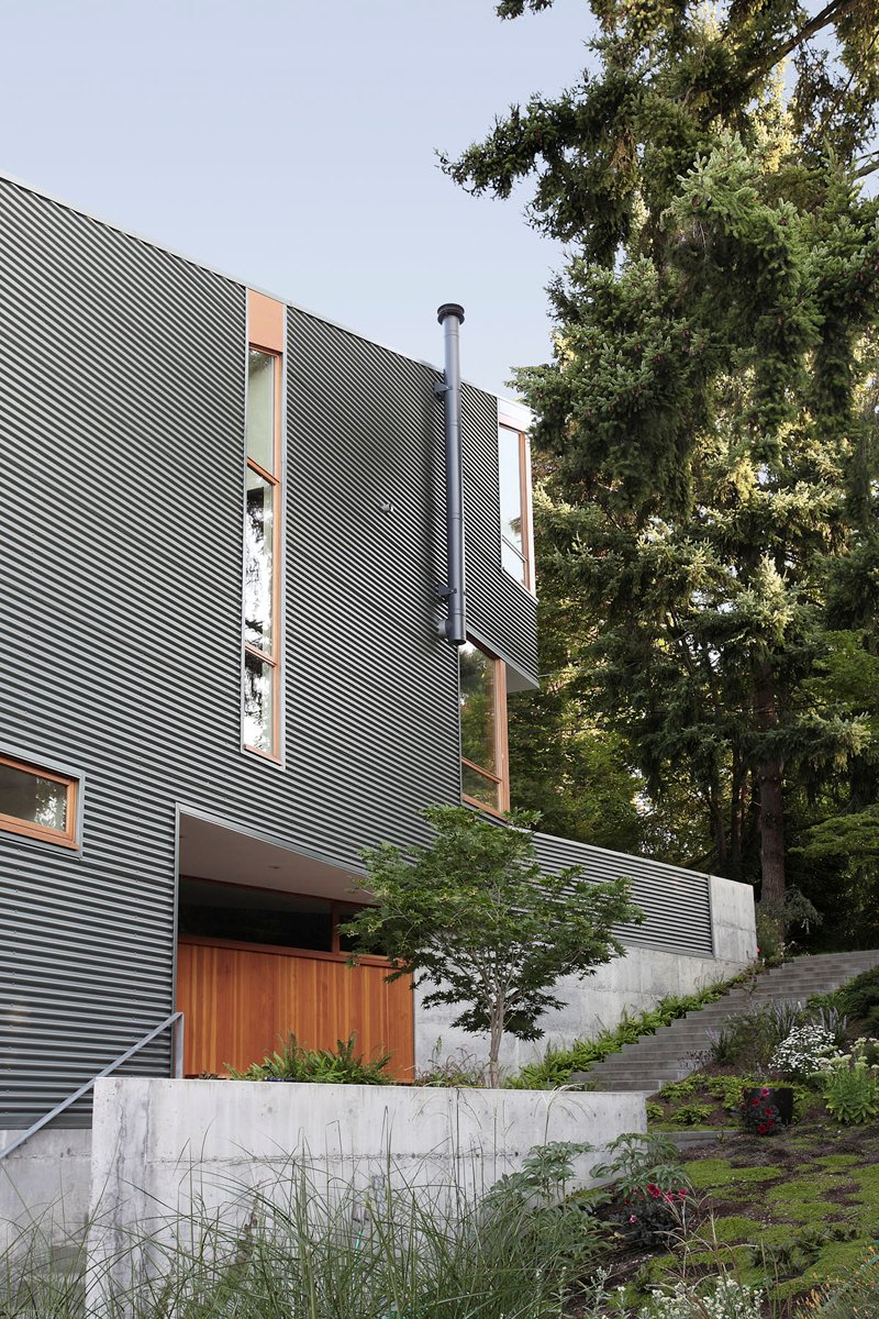 street house in usa with metal sheet wood and glass design (6)