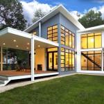บ้านสองชั้นบนแนวคิดโมเดิร์น ตกแต่งภายในแบบลอฟท์ดูโล่ง กว้างขวาง และโปร่งสบาย