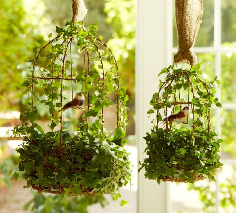 21 ideas decorate home with green space (2)