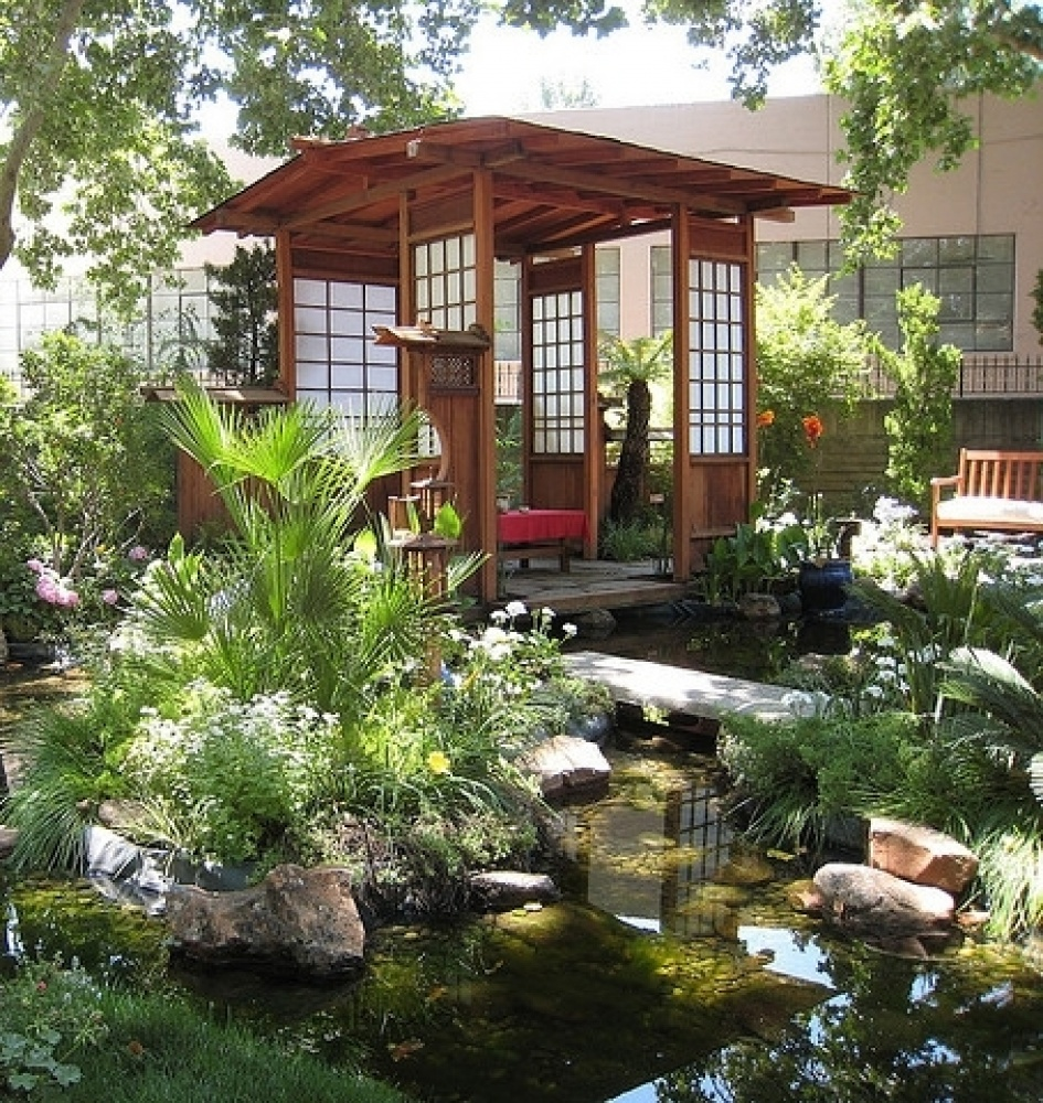 30 japanese garden ideas for decorating your house yard (1)