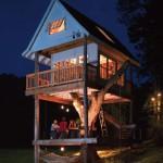 บ้านต้นไม้ออกแบบทรงกระท่อมเรียบง่าย ภายใต้แนวคิดพื้นที่พักผ่อน ท่ามกลางธรรมชาติ