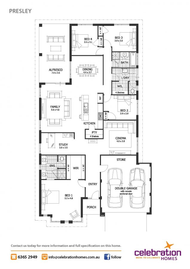 contemporary 4 bedrooms one storey house (12)