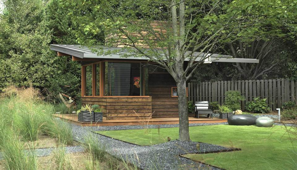 contemporary cottage house west-east design with wood and glass (3)
