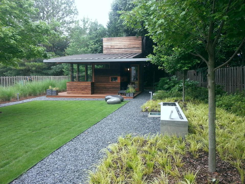 contemporary cottage house west-east design with wood and glass (9)