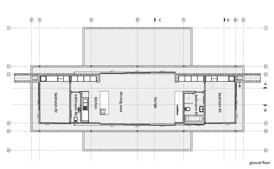 contemporary modern house in peachful garden (1)