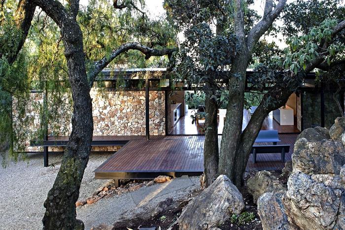 contemporary modern house in peachful garden (6)