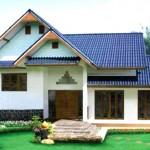 แบบบ้านชั้นครึ่งแบบไทยประยุกต์ ขนาด 3 ห้องนอน ออกแบบหน้าจั่วอย่างเป็นเอกลักษณ์