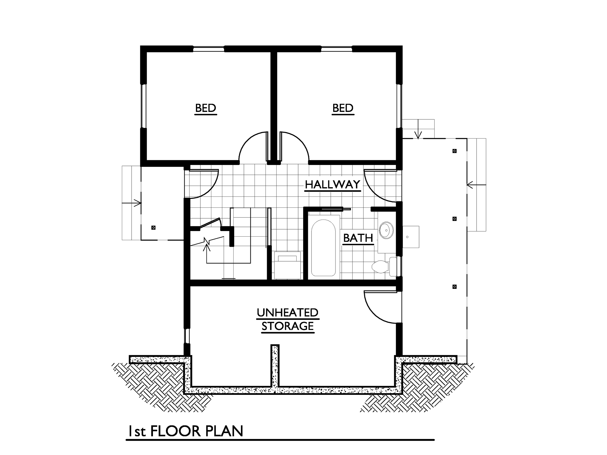 cottage 2 storey 2 bedrooms plan (5)
