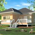 แบบบ้านชั้นเดียวยกพื้นสูง ออกแบบแนวร่วมสมัยเหมาะกับเมืองไทย ในงบล้านเดียว