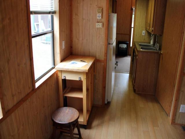cottage house on wheel mini wooden idea (7)