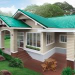 แบบบ้านชั้นเดียว ออกแบบสไตล์รีสอร์ทไทยประยุกต์ เพื่อครอบครัวเล็กๆในงบไม่แพง