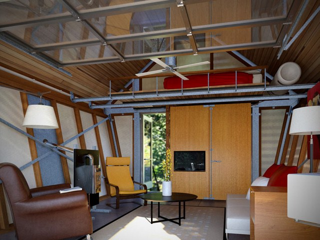 cottage modern house loft style (4)