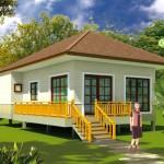 แบบบ้านชั้นเดียวยกพื้นสูง ออกแบบให้เหมาะกับเมืองไทย ในงบไม่เกิน 600,000 บาท