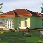แบบบ้านชั้นเดียว ออกแบบเรียบง่าย ให้ครอบครัวขนาดเล็กในงบไม่เกินล้าน