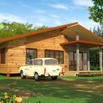 แบบบ้านไม้ชั้นเดียว 2 ห้องนอน สำหรับคนที่มีงบประมาณจำกัด ให้ใช้งานครบครัน