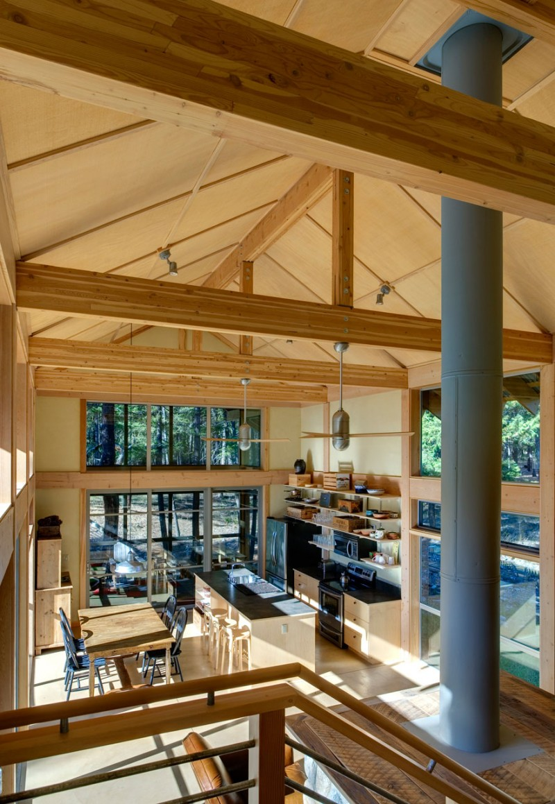 medium size cottage wooden house in seattle forest warm idea (10)
