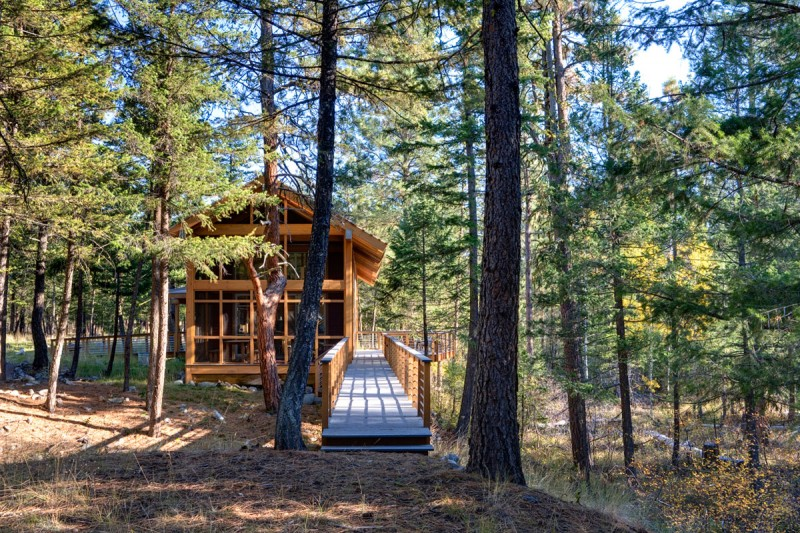 medium size cottage wooden house in seattle forest warm idea (6)