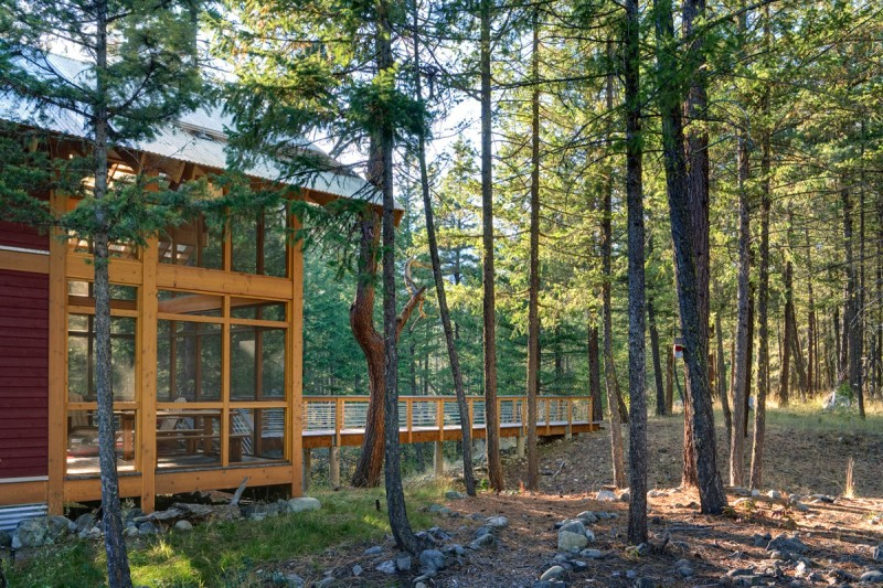 medium size cottage wooden house in seattle forest warm idea (8)