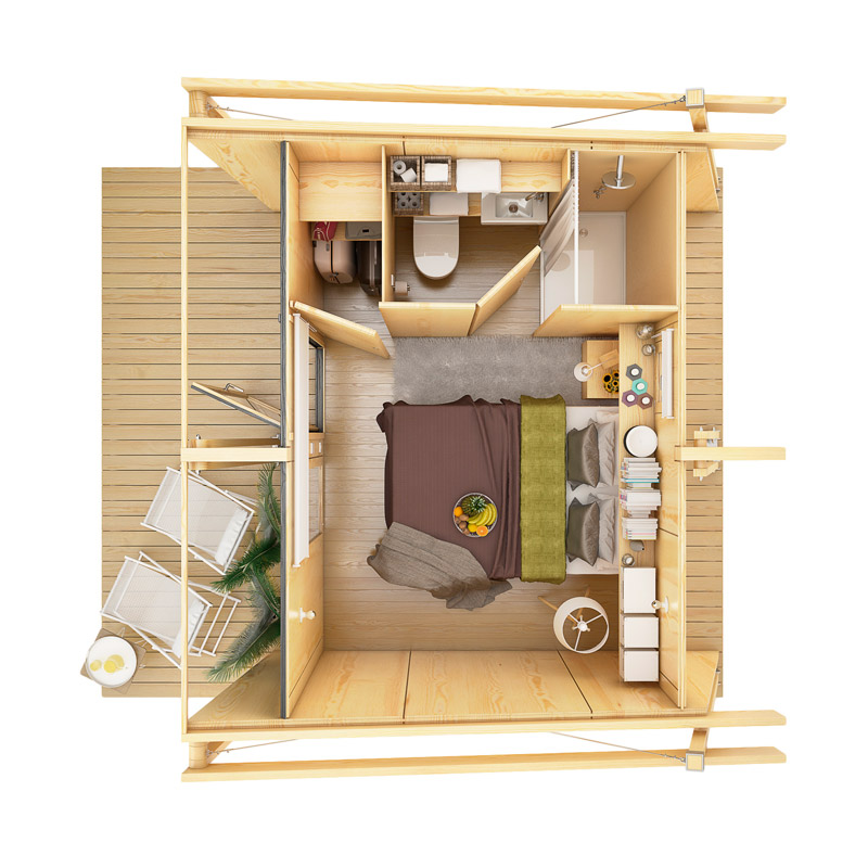 mini compact house wood from spain for living in the future (10)