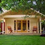 แบบบ้านไม้ทรงหน้าจั่ว ขนาดกะทัดรัด 24 ตร.ม. การใช้งานครบครัน และประยุกต์ได้หลากหลาย