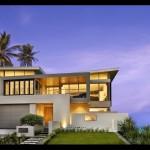 บ้านสองชั้นแนวโมเดิร์น ออกแบบอย่างมั่นคง เสริมความสวยงามทันสมัยด้วยกระจกใส