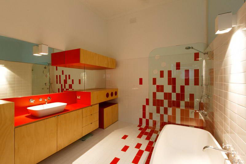 modern box compact house with vivid color in australia (15)