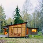 แบบบ้านกระท่อมยุคใหม่ รูปทรงเพิงหมาแหงนเป็นเอกลักษณ์ รายล้อมด้วยธรรมชาติสีเขียว