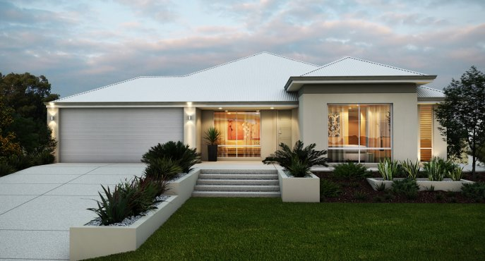 modern contemporary 4 bedrooms house with plan (1)