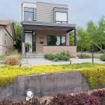 บ้านแบบทาวน์โฮม ทรงสี่เหลี่ยมแนวโมเดิร์นร่วมสมัย พร้อมการตกแต่งภายในโล่งสบาย