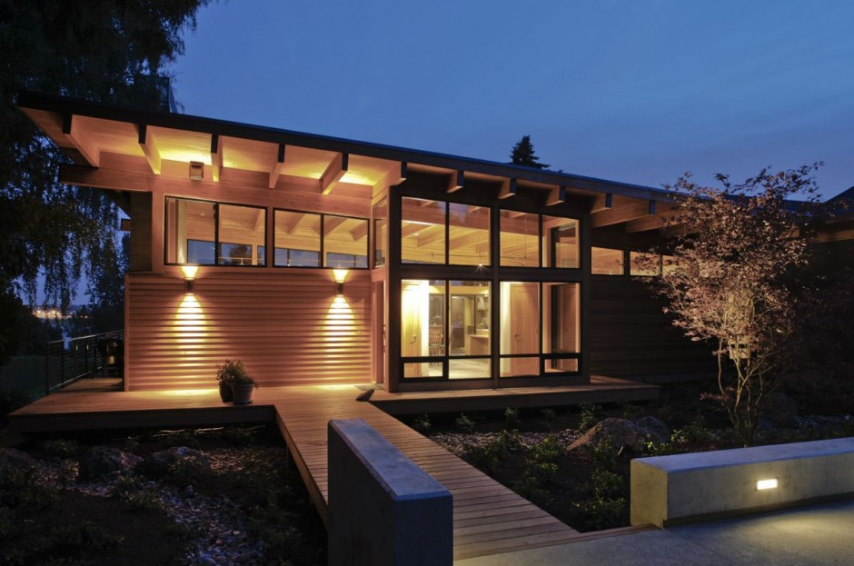 modern contemporary wooden glass house idea (3)