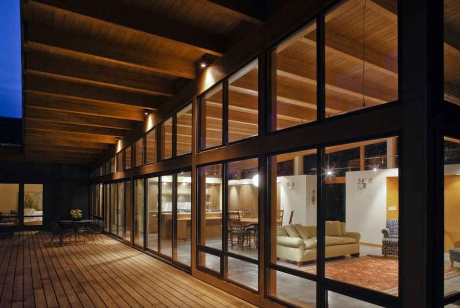 modern contemporary wooden glass house idea (4)