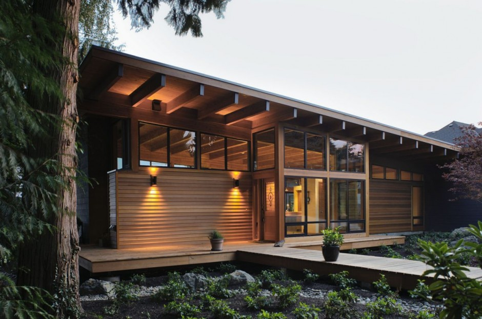 modern contemporary wooden glass house idea (6)