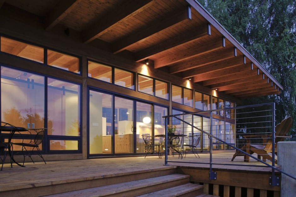 modern contemporary wooden glass house idea (7)