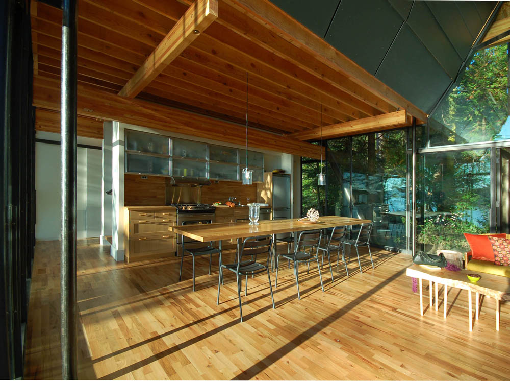 modern cottage glass wall in forest (3)