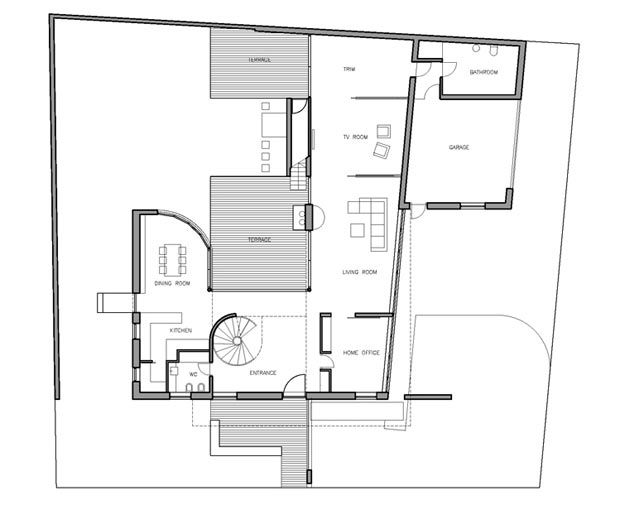 for Modern family house floor plan