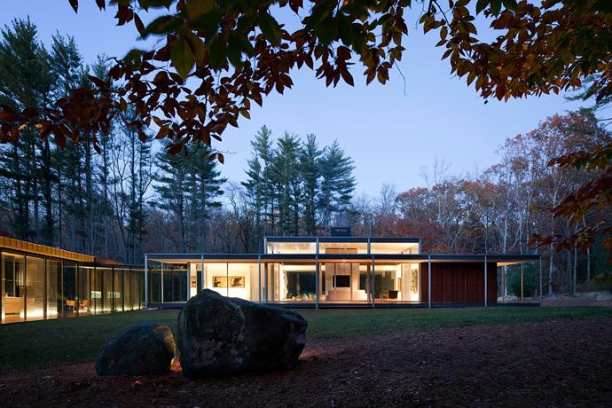 modern glass wall wooden house (12)
