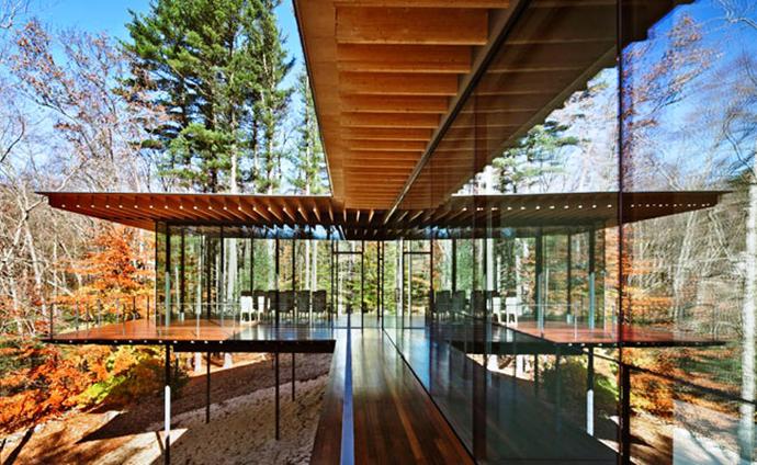 modern glass wall wooden house (2)